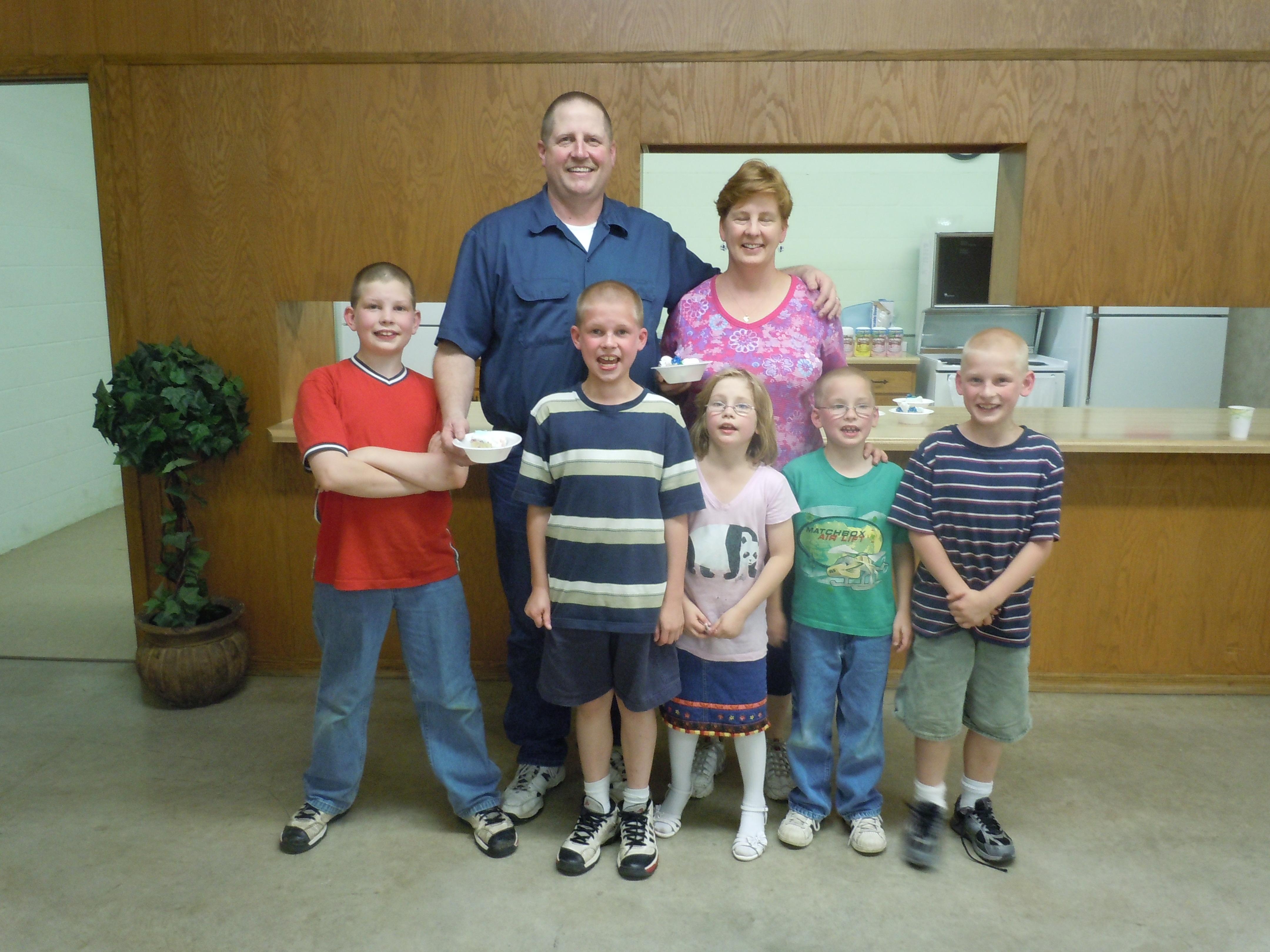 Jim & Brenda Emerson family